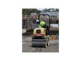 Roller from Kennards Hire used for work at Heidelberg TAFE Campus