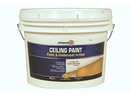 Rust-Oleum offers Zinsser's stain sealing ceiling paints, now available in 10L cans
