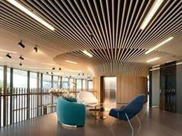 SAS International meets Greenwich project brief using linear Tubeline ceiling system