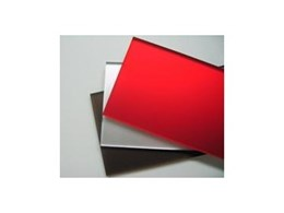Satin acrylic mirror sheets from Allplastics Engineering