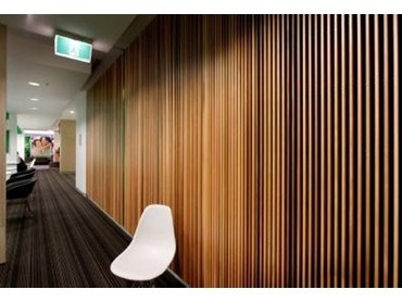 Screenwood Western Red Cedar Used For Acoustic Wall Panels At Nib Project Architecture And Design