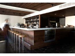 Screenwood ceiling panels installed in Melbourne luxury boutique hotel