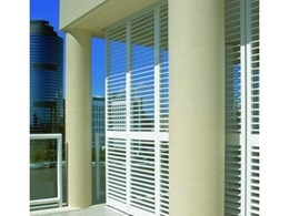 Shadelight polyresin shutters from Hunter Douglas Commercial