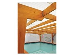 Shapland Swim Schools choose Hyne Beams 17 H3 treated portal frames for pool areas