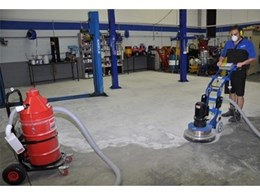 Single headed, heavy duty 240V concrete grinder from Kennards Hire