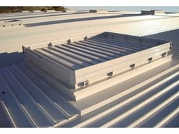 Smoke Control installs 50 Eura smoke vents in a warehouse