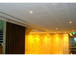 Smoke Control installs Fibershield fire curtains and Supercoil smoke curtains at major Australian bank