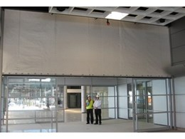 Smoke Control installs fire curtains at car dealership