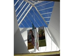 Solar Control Window Film on Skylight and Pyramid Atriums Reduces Heat, UV and Energy Usage in Building