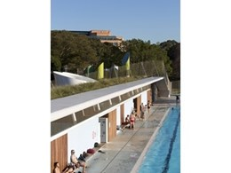 Sonoguard waterproofing membrane from BASF used on green roof at Prince Alfred Park Pool in Sydney