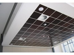 Sontext provides Murano acoustic panels for cafeteria building project