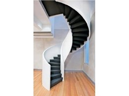 Spiral Staircase from Enzie Stairs takes Chairbiz Showroom to New Heights