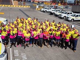 Staff at Patrick Botany Bay Terminal Challenge their WA Colleagues to Pink Up in Bisley Work Wear