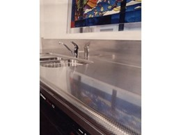 Stainless steel finishes for benches, bar tops and splashbacks from Rimex Metals