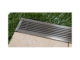 Stainless steel outdoor lineal drains from Creative Drain Solutions