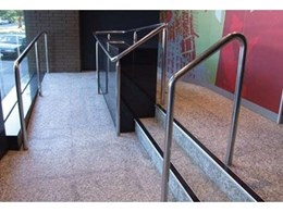 Stair nosings from Grip Guard Non Slip installed at Britomart Station in Auckland