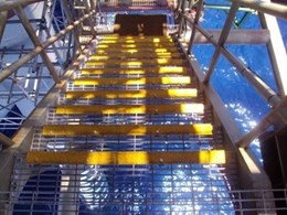Staircare SC-R Stair Nosing installed at Woodside's new Pluto LNG offshore platform