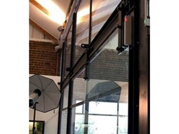Steel Barn Sliding Door System and Framework, Display Units and Counters by Interspace