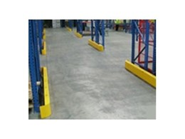 Steel end guards from Andian Sales provide pallet rack protection