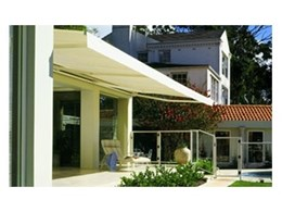 Stratos I open style awnings available from Aluxor Awning Systems