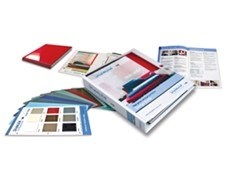 Stylelite Specifier Binder of high gloss laminate samples available from EGR
