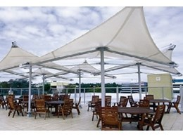 Sunshade structures help protect workers from UV exposure