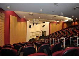 Supacoustic PLK acoustic panel lining provides effective re-fit solution for UNSW Auditorium at Liverpool Hospital
