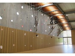 Supawood Supacoustic wall panels solve noise problem in award winning recreation hall