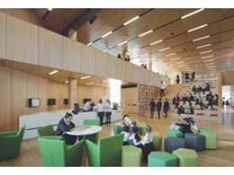 Supawood acoustic and solid panels used in award winning building at Ravenswood School for Girls