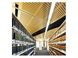 Supawood acoustic panels for quieter libraries available from Supawood Architectural Lining Systems
