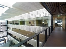 Supawood wall and ceiling panels meet green standards in new university building