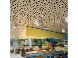 Supawood's Creative Supatile 10 Ceiling Panel System Enhances Fun Café Theme