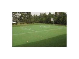 Synthetic grass multi purpose court installed by Synthetic Grass & Rubber Surfaces at St John The Baptist Bonnyrigg
