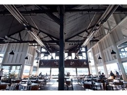 THE BAR at the end of the wharf installs heating panels from Celmec International