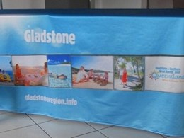 Tablecloths and matching banners custom made for promotional event