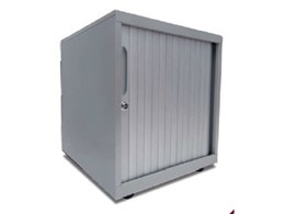 Tambour door mobile pedestal units from Bosco Storage Solutions