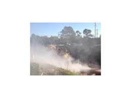 Tecpro dust suppression systems combating silica dust at construction sites