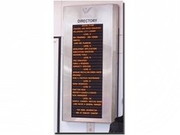 Tenant building directory boards from Computronics