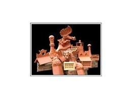 Terra cotta roofing dragons and other accessories.