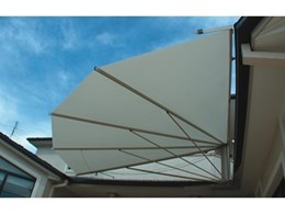 The 90 Degree SeaShell corner awnings from Seashell Industries
