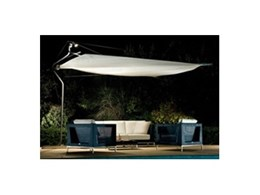The Defender self-standing retractable shade sail from Aalta Screen Systems