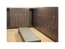 Timber laminated lockers available now from Interloc Lockers