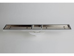 Trinity TI6 channel drains from Rock Top Marketing suitable for all internal wet areas