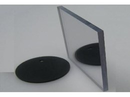 Unbreakable polycarbonate mirror sheeting available from Allplastics Engineering.