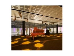 Uniweave woven carpets from Tascot Carpets used for the Australian Pavilion at the 2010 Shanghai World Expo in China