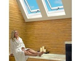 Velux skylights can be opened to allow airflow, features blockout blinds to prevent heat gain