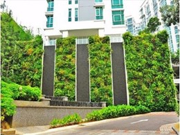 Vertical garden creates harmony at condo development