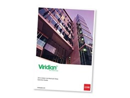 Viridian launches 2014 Viridian Architectural Glass Selection Guide