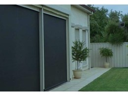 Visiontex Solar durable outdoor mesh awnings from HVG Decorative Fabrics and Films