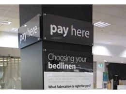 Wall mounted acrylic signs available from SI Retail